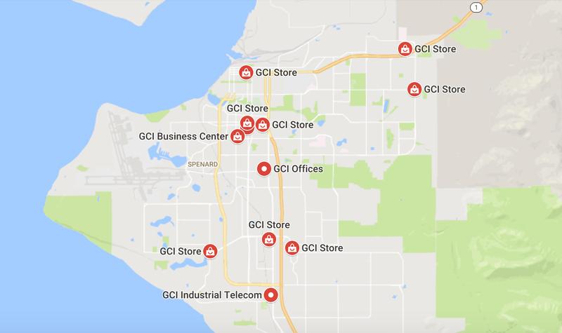 GCI locations