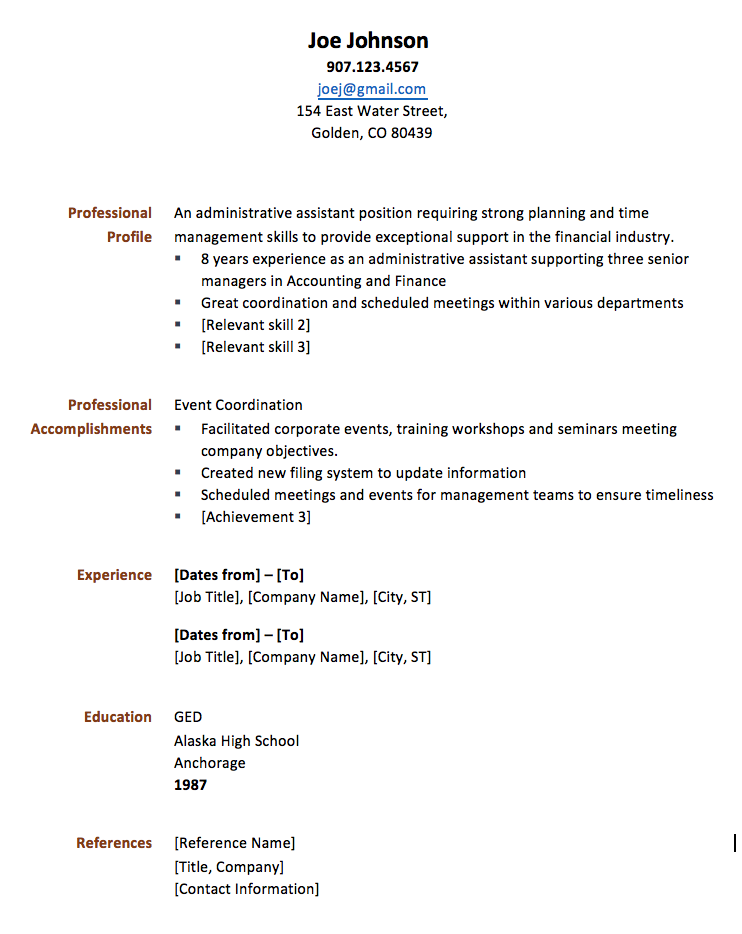 creating a functional resumes